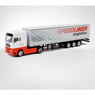 арт. 729-1 Масштабная модель Speedliner MAN TGA XXL - Curtainside Trailer (3 axle) 1:87